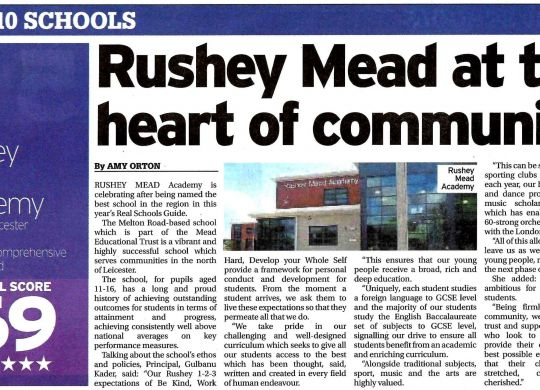2020 07 13 - Leicester Mercury - p03 - 2020 Real Schools Guide - Rushey Mead